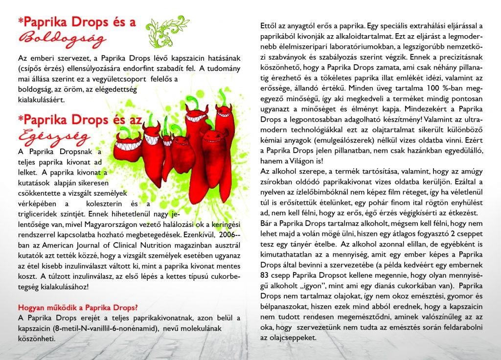 A Paprika Drops és a Boldogság