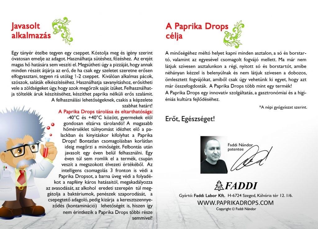 Paprika Drops Javasolt Alkalmazás